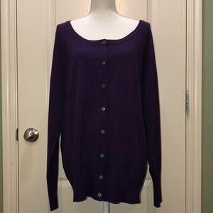 NEW Lane Bryant Purple Cardigan sz 18/20